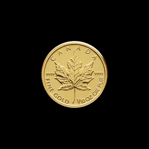 1/10 oz Random Year Canadian Maple Leaf Gold Coin