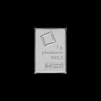 1 g Stück eines Platin Kombinationsbarrens - Valcambi