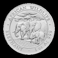 1 oz 2013 Somalian African Elephant Silver Coin