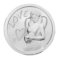 1 oz 2013 Love Zilveren Plak