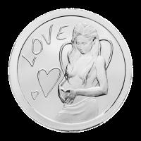 1 oz Silbermedaille - Love (Liebe) - 2013
