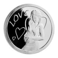 Disco in argento proof-like 1 oz 2013 Love