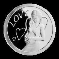 1 oz Silbermedaille - Love (Liebe) - 2013 - Zustand: Spiegelglanz