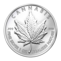 Disco in argento 1 oz 2013 Cannabis