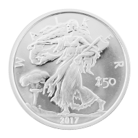 Disco in argento 1 oz Zombucks Walker