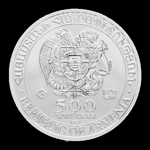 Das Wappen der armenischen Republik - Armenische Republik - 500 DRAM - 1 oz Silber 999 - LEV Echtheitsstempel ( Leipziger Edelmetallverarbeitung)
