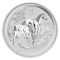 1 oz  2014 Year of the Horse Perth Mint Zilveren Munt