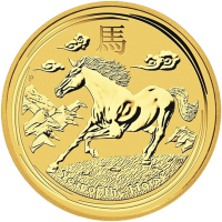 1 oz 2014 Lunar Year of the Horse Perth Mint Gullmynt
