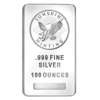100 oz Sunshine Münzanstalt Silberbarren