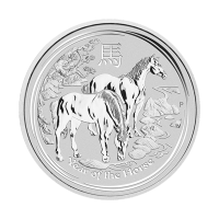 1/2oz 2014 Lunar Year of the Horse Silver Coin