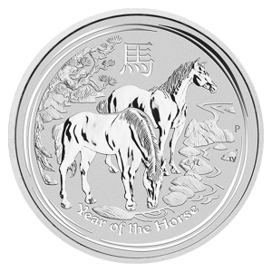 2 oz 2014 Lunar Year of the Horse Silver Coin