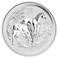 5 oz 2014 Lunar Year of the Horse Silver Coin