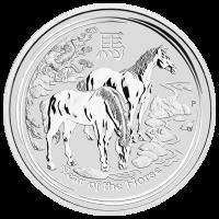 5 oz Silbermünze Mondserie Jahr des Pferd 2014