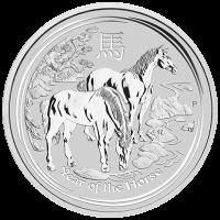 10 oz Silbermünze - Jahr des Pferdes - 2014