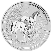 10 oz Silbermünze Mondserie Jahr des Pferd 2014