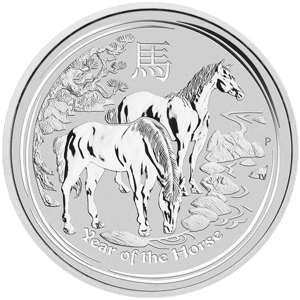 1 kg | kilo 2014 Lunar Year of the Horse Silver Coin