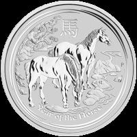 1 kg Silbermünze - Jahr des Pferdes - 2014