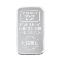 Lingot d'argent Golden State Mint de 5 onces