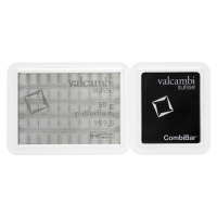 CombiBar de palladium Valcambi de 50 grammes (50 x 1 g)