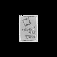 Morceau de CombiBar de palladium Valcambi de 1 gramme