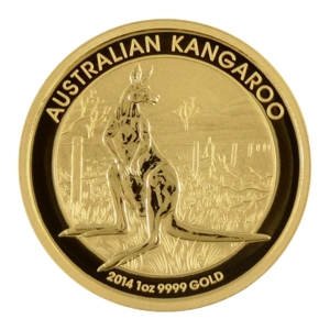 1 oz 2014 Australian Kangaroo Gold Nugget Coin