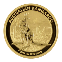"1 oz Goldmünze - australisches Känguru ""Goldklumpen"" - 2014"