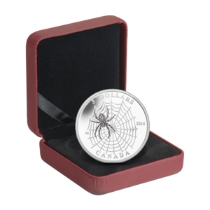 1/4 oz 2014 Animal Architects: Spider and Web Silver Coin