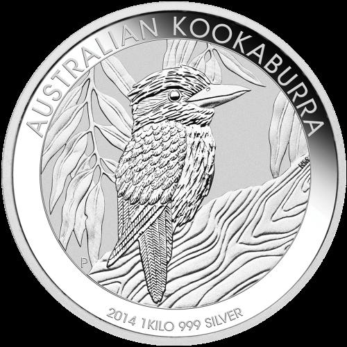 1 kg | kilo 2014 Australian Kookaburra Silver Coin