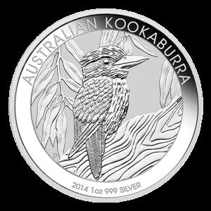 1 オンス 2014 オーストラリア・ワライカワセミ銀貨