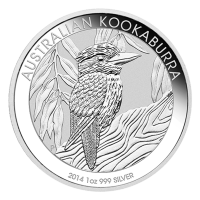 Moneda de Plata Cucaburra Australiano 2014 de 1 oz