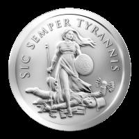 1 oz 2013 Sic Semper Tyrannis Zilveren Plak