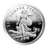 1 oz 2013 Sic Semper Tyrannis Silver Proof-like Round