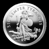 1 oz Silbermedaille - Sic Semper Tyrannis - 2013 Zustand: Spiegelglanz