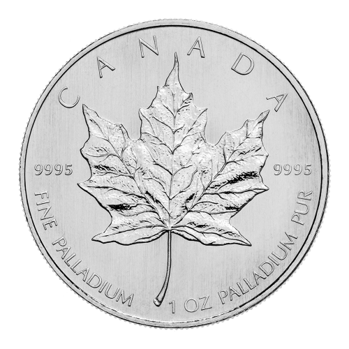 1 oz Random Year Canadian Maple Leaf Palladium Coin