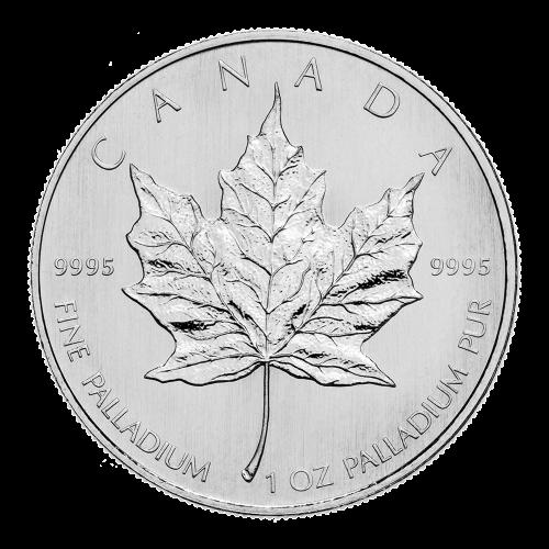 1 oz Palladiummünze - kanadisches Ahornblatt - Zufallsjahr