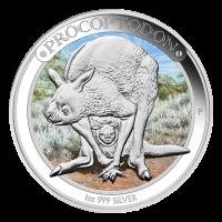 1 oz Silbermünze - Megafauna Serie - Procoptodon - 2013