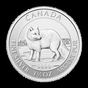 Pièce d'argent Renard d'arctique canadien 2014 de 1,5 once