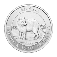 1.5 oz 2014 Canadian Arctic Fox Silver Coin