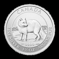 1,5 oz Silbermünze - kanadischer Polarfuchs - 2014