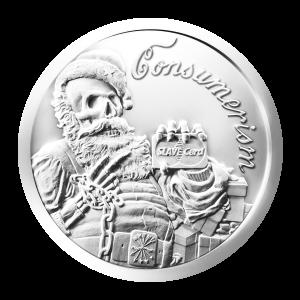 1 oz 2013 Consumerism Silver Round