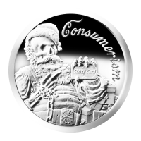 1 oz 2013 Consumerism Silver Proof-like Round
