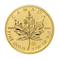 Pièce d'or Maple Leaf canadienne 2014 de 1 once
