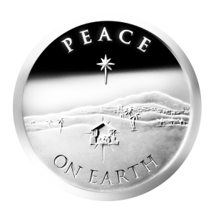 1 oz 2013 Peace on Earth Silver Proof-like Round