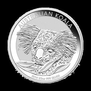 1/2 oz Silbermünze - australischer Koala - 2014
