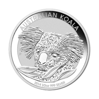 1/2 oz australische Silbermünze - Koala - 2014