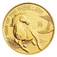 1 oz 2014 The Royal Mint Lunar Year of the Horse Gold Coin
