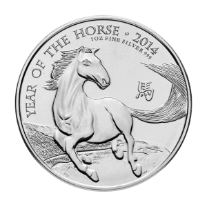 1 oz 2014 The Royal Mint Lunar Year of the Horse Silver Coin