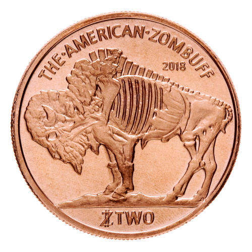 1 oz Zombucks Zombuff Copper Round