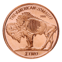 1 oz Kupfermedaille - Zombucks Zombuff