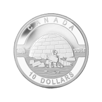 1/2 oz Silbermünze - O Kanada Serie - Iglu - 2014